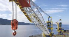 New NOV DNS60 KINGPOST OFFSHORE DECK CRANE