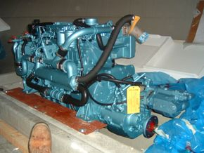 Fitting of new perkins 135HP 6 cylinder