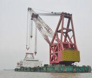 1500t Revolving Crane Barge