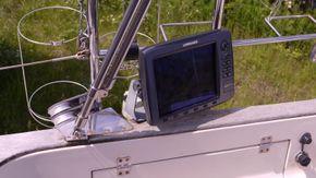 chartplotter adjacent to helm
