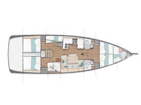 Jeanneau Sun Odyssey 490 Layout