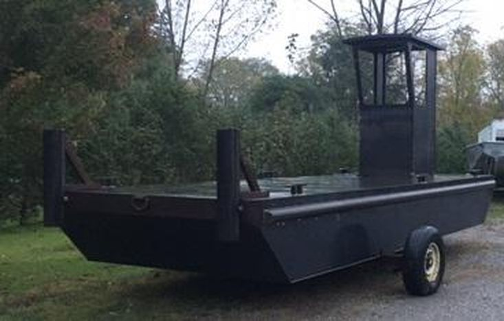 """23'6 x 8' x 30"""" Steel Work Barge - Built to order"""