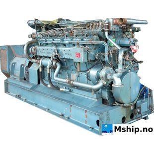 SACM Poyaud  A 12150 SCrl  V12  generator set 550 kWa
