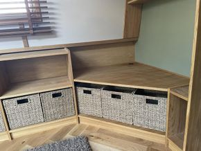 Fitted storage and media unit