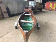 15ft x 4ft 6ins Double Ender Original Wooden Rowing Boat