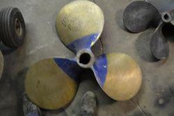 "LH, 34 x 30, 3-blade, 2 3/4"" bore, Brass, Columbia"