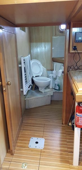 Aft toilet and shower from chart area