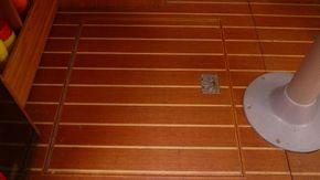 saloon floor with fridge hatch