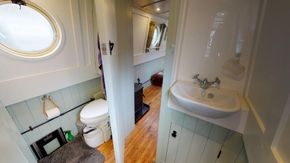 Shower area Vanity and Compost toilet