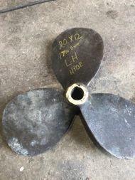 LH 20″ x 12″, 3 Blade Bronze Hyde Propeller, 1 5/16″ bore