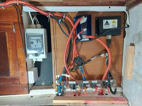 Rewired electrical pane with split charge system and battery cutoff switches