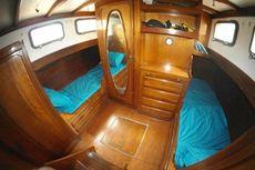 Classic mahogany motorsailer