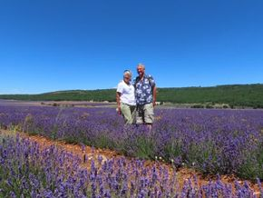 The two of us in the lavender fields