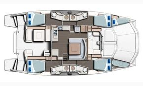 Manufacturer Provided Image: Leopard 51 PC Main Deck 4 Cabin Layout Plan