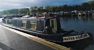 Water Knight 50' semi trad offered with mooring at Roydon Marina