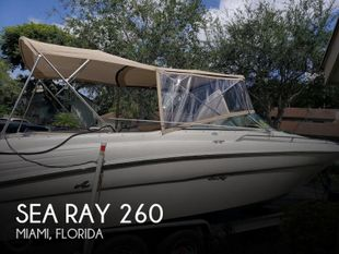 2001 Sea Ray 260 Signature