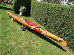 Baidarka style 18' single-seat kayak