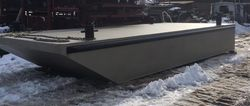 """New 2020 10' x 24'6"""" x 3' Steel Barge 1/4"""" Construction"""