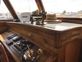 Dashboard in wheelhouse