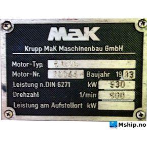 MaK 6M20    mship.no