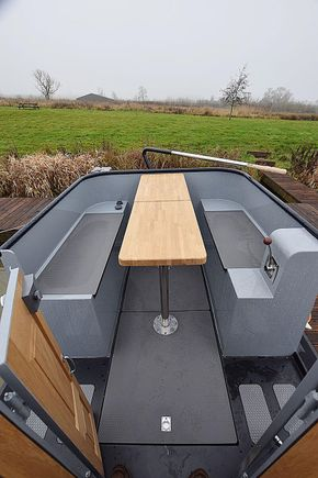 Rear deck with tables up