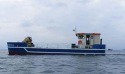 16M FISH FARM CATAMARAN WITH CRANE