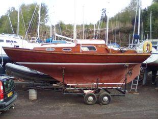 26 ft varnished mahogany carvel folkboat