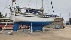 Ashore showing hull May 2021
