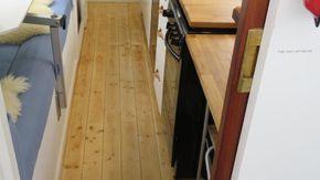 Solid 18mm pine floor