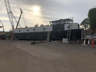 58ft Dutch Barge Widebeam Liveaboard Can