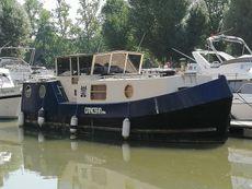 Barge on London mooring