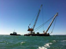Sheer Leg Crane Barge