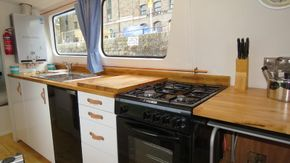 Brand new kitchen units with leather handles