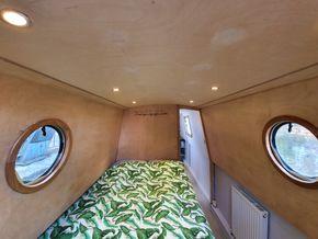 Rear cabin (Captain's Quarters) - fixed small double berth
