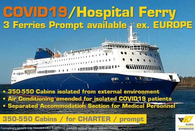 PROMPT // Covid19 Hospital Ferry FOR CHARTER / #440F