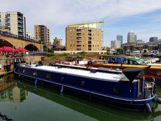 Beautiful steel hulled British barge, E14