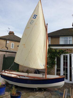 Brock 12 Dinghy, Sails,outboard, trailer