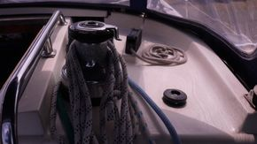 electric winch on coachroof/ sail control lines