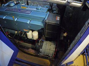 Starboard side of engine