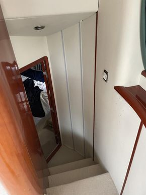 Stairway to aft cabin