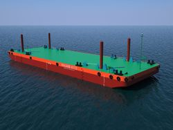 41 mtr Pontoon Barge For Charter