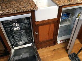 Dishwasher and fridge