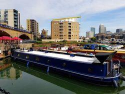 Beautiful steel hulled British barge