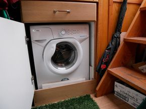 Washing Machine - by rear steps