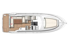 Jeanneau Leader 36 diesel sports cruiser - deck diagram