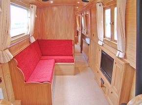 Optional comfortable dinette converts to double berth