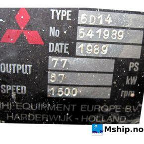 Mitsubishi 6D14 with 64 kWA generator