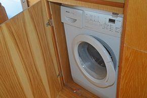 Washing machine in bedroom