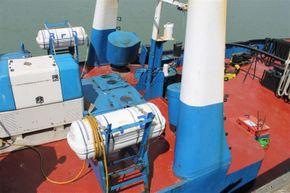 Appledore Devon Motor Tug Dog Class Tug - Aft Deck