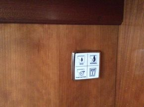 Electric toilets control
